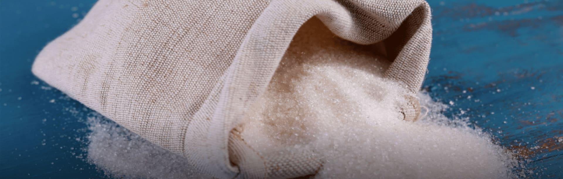 Foto ilustrativa de grãos de açúcar