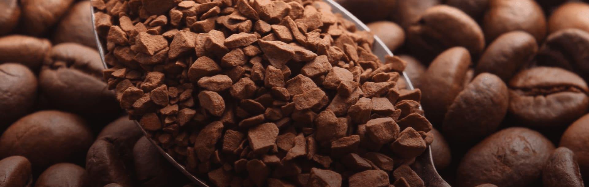 Foto ilustrativa de grãos de café solúvel